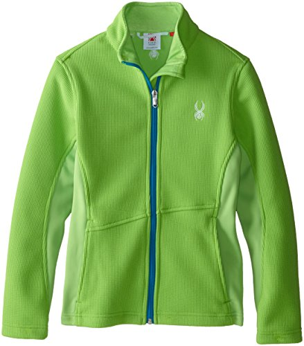 Spyder Girls Endure Mid-Weight Core Sweater, X-Small, Green Flash/Riviera (Flash Spyder)
