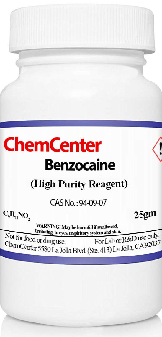 Benzocaine, Powder, High Purity, 25 Grams by ChemCenter