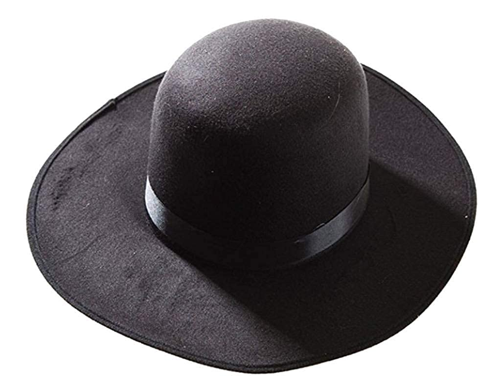 Amazon.com  Deluxe Western Amish Black Hat  Clothing 0c20d37f2a2