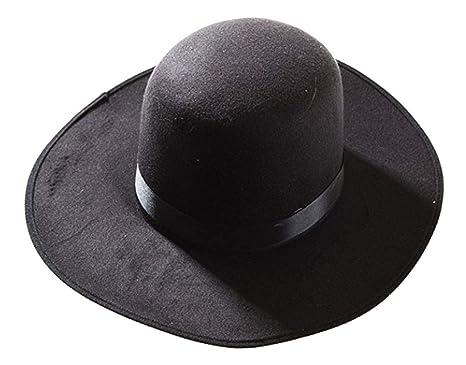 e9354781e4ac8 Amazon.com  Deluxe Western Amish Black Hat  Clothing