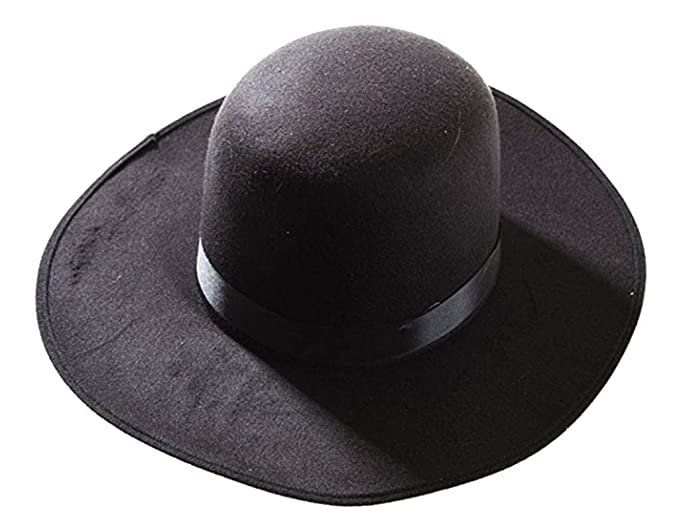 Amazon.com  Deluxe Western Amish Black Hat  Clothing e84e0a64b526