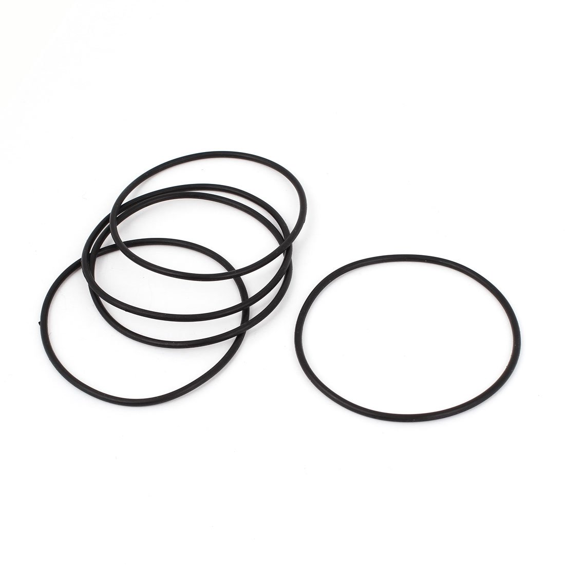 sourcingmap 5 Pcs Black Rubber O Shaped Rings Oil Seal Gasket Washer 70mm x 66mm x 2mm