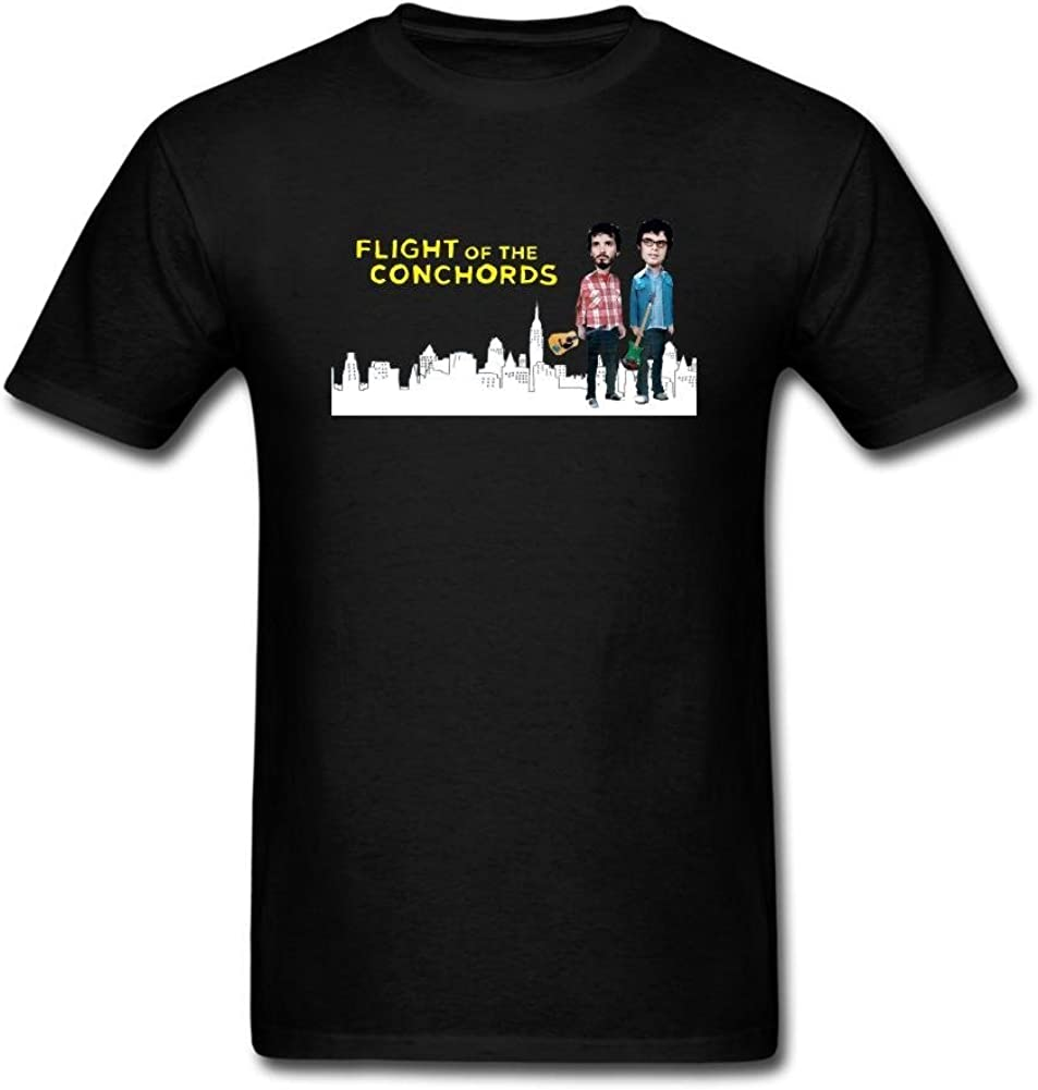 kettyny Hombres del vuelo de la Conchords diseño algodón T Shirt