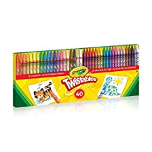 Crayola 40 Count Twistables Crayons and Coloured Pencil Kit