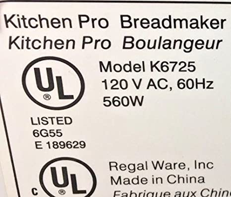 Nuevo modelo de amasar pala para Regal # k6725 (aka QVC tema ...