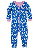 Hatley Baby-Girls' Footed Coverall Butterflies, Blue, 6-12 Months