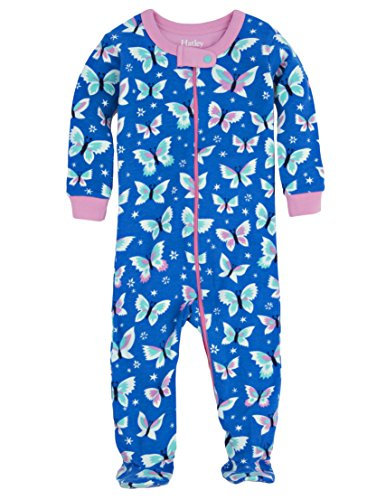 Hatley Baby Girls' Footed Coverall, Butterflies, 6-12 Months ()