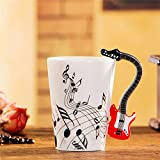 Tmalltide Ceramic Mug Cup Musical Instrument Note Style Coffee Milk Cup