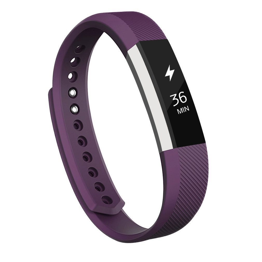 Fitbit ALTAバンド, AK交換for FitbitバンドFitbit ALTAアルタ/HR with Metal Clasp パープル L