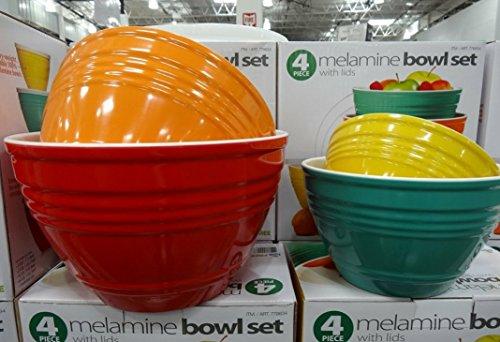 4 Piece Melamine Bowl Set With Lids - 4 Sizes Home Garden Kitchen ...