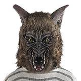 Halloween Mask Werewolf Wolf Scary Horror Costume Party Fancy Dress Hairy Full Head Adult Men Women Teen