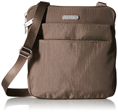 Baggallini Zipper Crossbody Travel Bag, Portobello, One Size