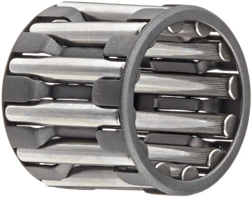 INA K20X28X25A Needle Roller Bearing, Cage and Roller, Single Row, Steel Cage, Open End, Metric, 20mm ID, 28mm OD, 25mm Width, 20000rpm Maximum Rotational Speed
