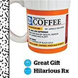 BigMouth Inc The Prescription Coffee Mug, Ceramic, Funny Gift for the Caffeine Lover