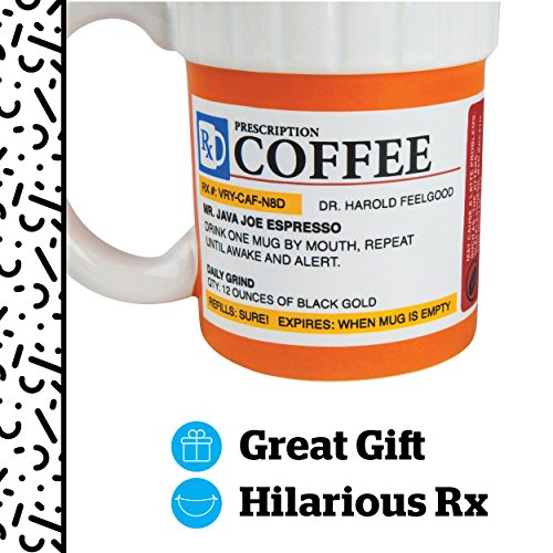 BigMouth Inc The Prescription Coffee Mug, Ceramic, Funny...