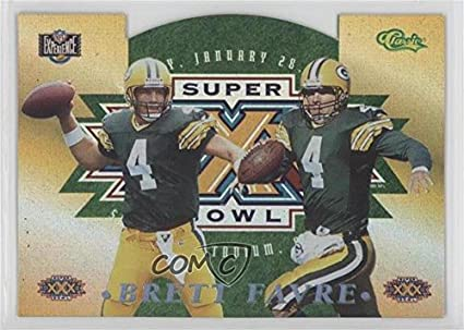 Amazon Com Brett Favre Football Card 1996 Classic Nfl Experience