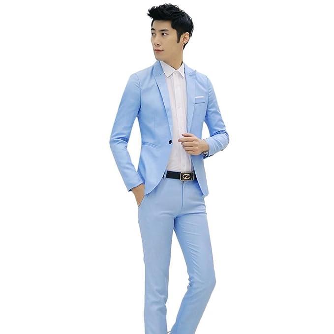 CHshe - Traje - para hombre azul azul celeste XL: Amazon.es ...