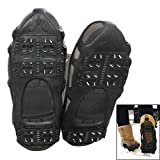 Ice Grips, Ice & Snow Grips Cleat Walk Traction Ice Cleat and Tread Rubber Spikes Anti Slip for Snow & Ice, 1 Pair
