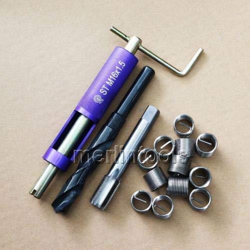FidgetGear M16 x 1.5 Helicoil Thread Repair Kit Drill and Tap Insertion Tool