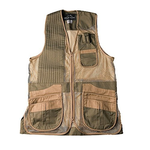 Vest Cloth Shooting (Wild Hare Shooting Gear Heatwave Vest - Sage and Khaki (Medium, left))