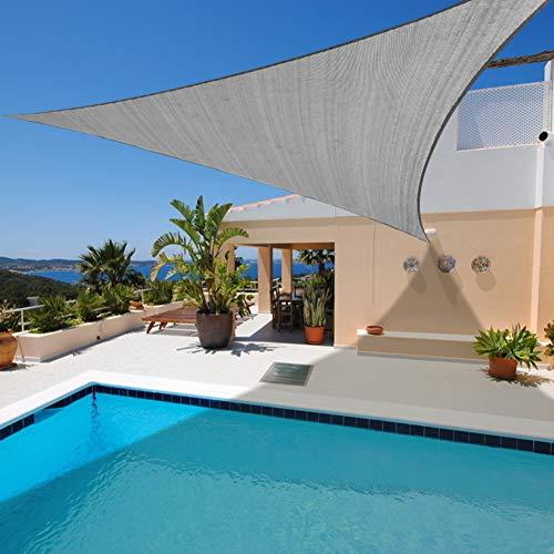 (Artpuch Sun Shade Sail 20' x 20' x 20' Grey Cover for Patio Outdoor Triangle Canopy Backyard Shade Sail for Garden Pool Playground)