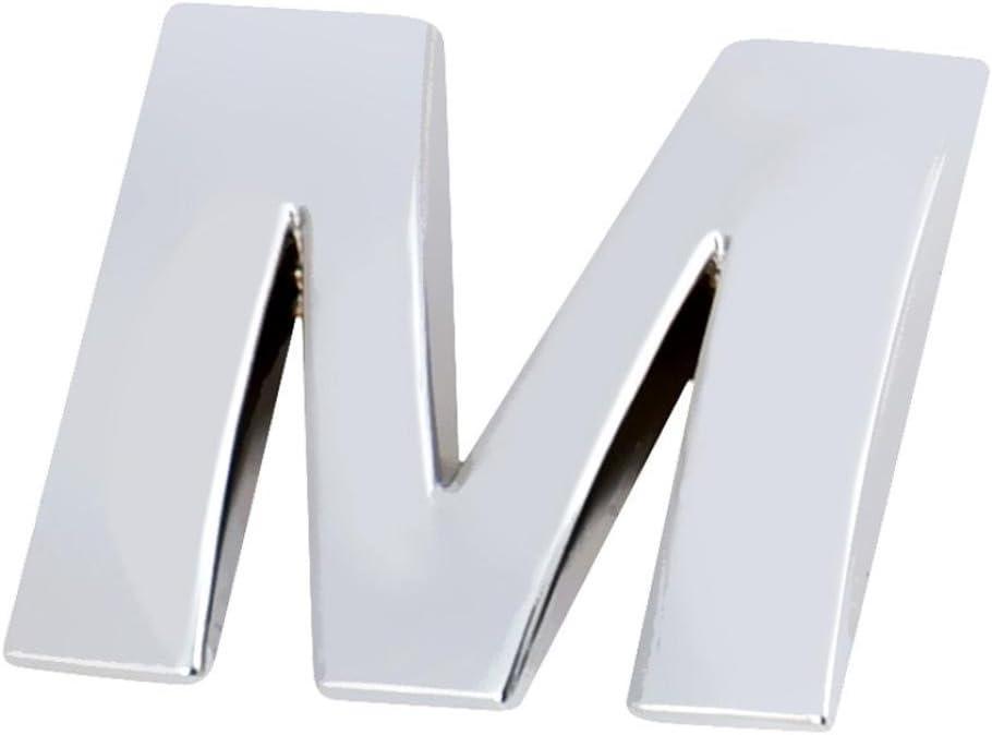 kingko/® 1pc 3d Plata letras DIY met/álico Pegatina para coche motos emblema adhesivos