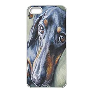 Custom New Cover Case for Iphone 5,5S, Cute Dog Dachshund Phone Case - HL-693411
