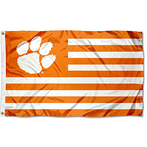 (Clemson Tigers Stars and Stripes Nation Flag)
