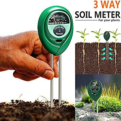 Test Instrument, 3 in1 PH Tester Soil Water Moisture Light Test Meter Kit for Garden Plant Flower, Patio, Lawn & Garden HotSales (Green): Home & Kitchen