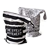 ALVES YOGA 2pcs Washable/Reusable Wet Bags - Gym Bags for Swimsuits or Wet Clothes