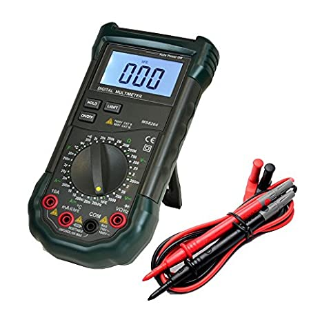 Dr.meter MS8264 30-Range Digital Multimeter with Temperature Measurement, AC/DC Voltage - Check Cable Analyzer
