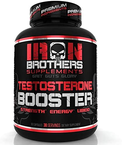 Testosterone Booster for Men – Estrogen Blocker – Supplement Natural Energy, Strength Stamina – Lean Muscle Growth – Promotes Fat Loss – Increase Male Performance 1 Bottle 90 Capsules Pills