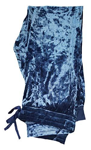 Secret Treasures Blue Cove Crushed Velour Lounge Sleep Pants - X-Large