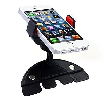 Noza Tec Universal soporte de coche CD ranura soporte para teléfono Soporte Cuna para iPhone Android Móviles Tablet GPS coche conducción cámara DV etc.