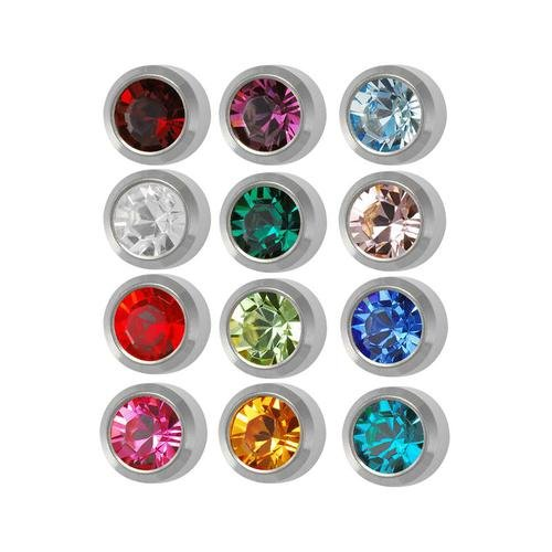 New 3 Dozen Studex Surgical Steel 3 mm Regular Size Ear Piercing Earrings Studs 36 Pair Mixed Colors White Metal Free 10 Extra Pair Silver Balls Gun kit Cartilage Hypoallergenic Baby Women by Generic
