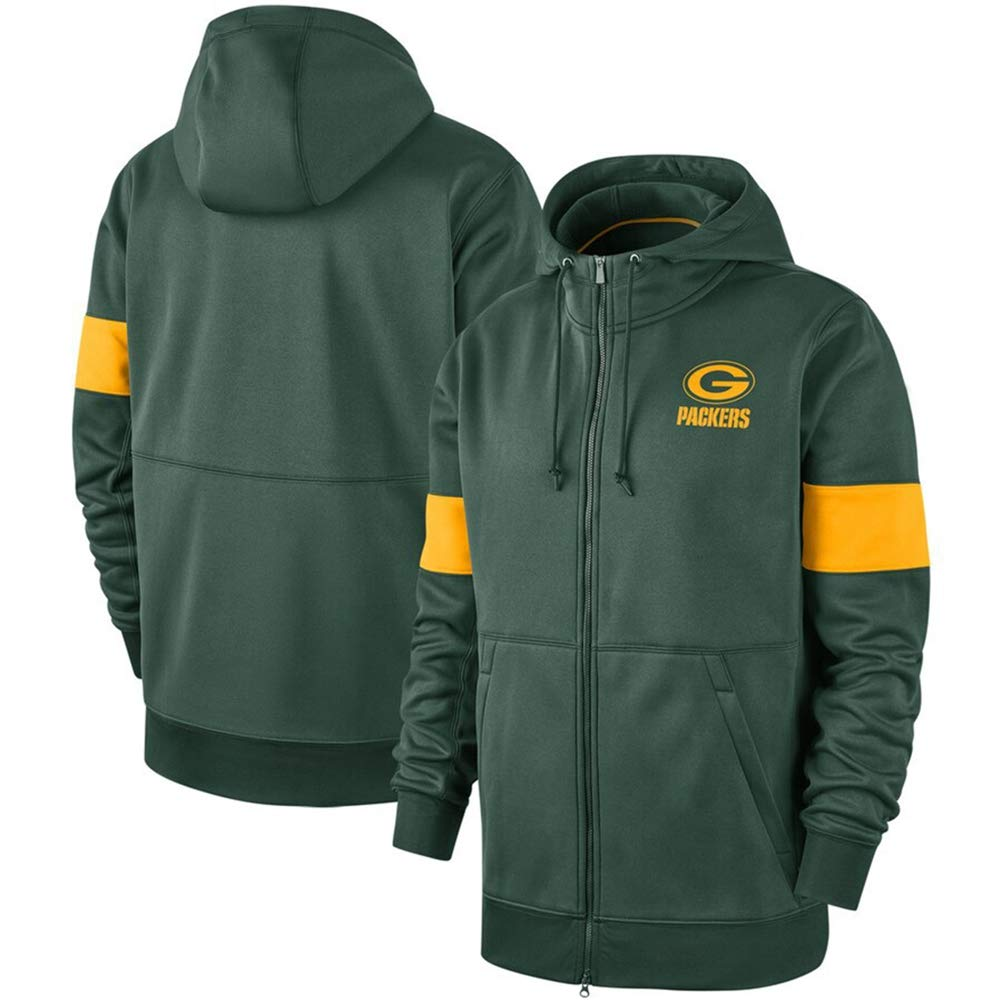 Mens Hoodie Green Bay Packers American Football Jersey Pullover Sweatshirt Fitness Wear Fitness Casual Jacket Training Apparel,S