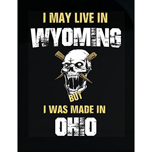 May Live In Wyoming But Made In Ohio Gift - Sticker