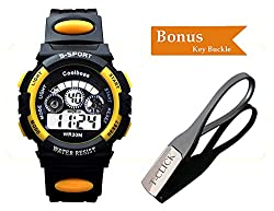 BoZZ Multifunction 7-Color Led Light Digital Waterproof S - Sport Wrist Watch (For Over 10 Years Old)
