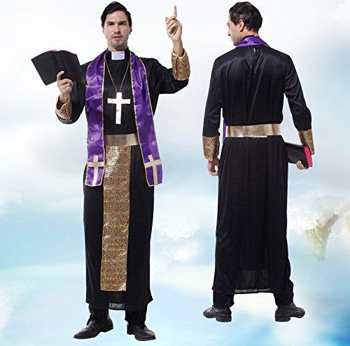 牧師 伝道師   神父 修道士 なりきり ものまね モノマネ 宴会芸 余興 変装 コスプレ 仮装 ハロウィン コスチューム (Sサイズ)