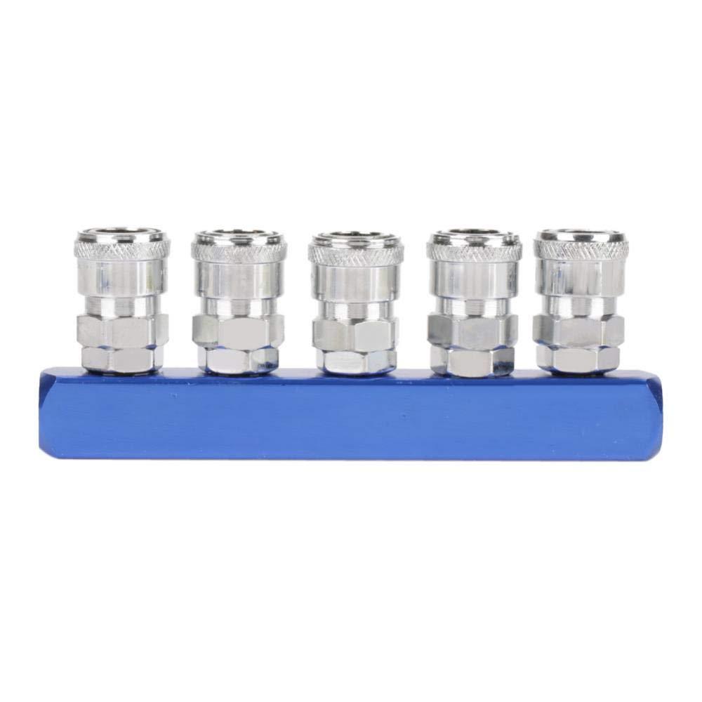 4 5 v/ías Akozon Enchufe de Acoplamiento R/ápido para Mangueras de Compresor de Aire Neum/ático 12mm PT1