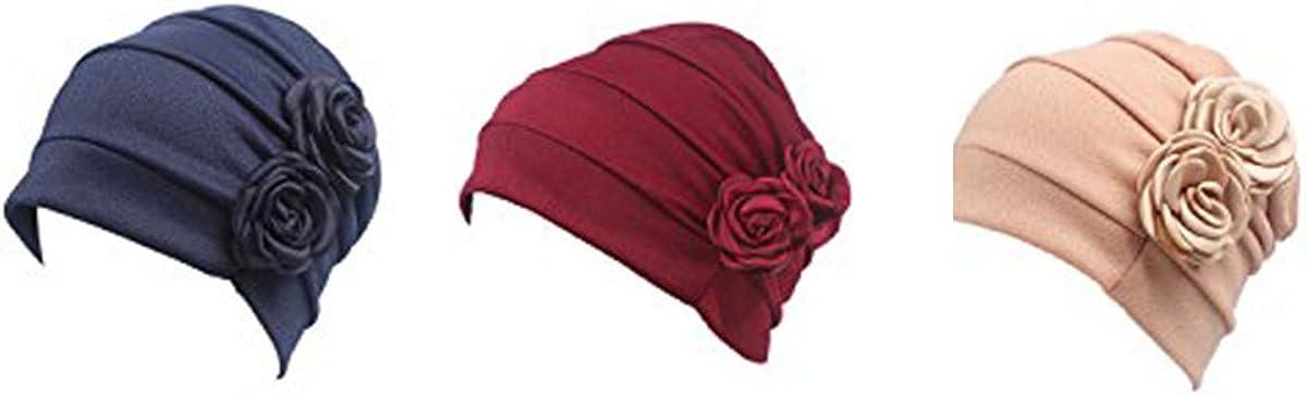 Ever Fairy Chemo Cancer Head Scarf Chapeau Casquette Ethnique Tissu Imprimer Turban Chapeaux Femmes Stretch Fleur Musulman Foulard