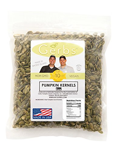 Raw Pumpkin Seed Kernels by Gerbs - 2 LBS - Top 11 Food Allergen Free & Non GMO - Vegan & Kosher Certified - Premium Grade AA Shelled Pepitas - Country of Origin Mexico (Non Gmo Pumpkin Seeds)