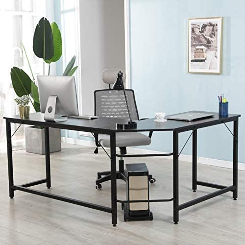 GREATMEET L Shaped Desk,Corner Cumputer Desk Gaming Table