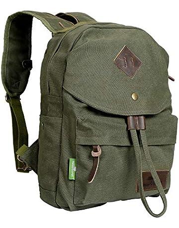 2ec60e42ebc8 Nature's Lodge Canvas Backpack Vintage Casual Bag Shoulder Sling Daypack  Drawstring Travel Rucksack