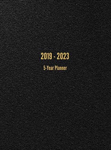 Monthly Year Multi Planner - 2019-2023 5-Year Planner: 60-Month Calendar (Black)