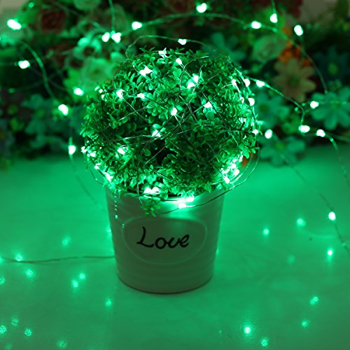 YIHONG Fairy Lights USB Plug-in String Lights with RF Remote 33ft Firefly Twinkle Lights for Bedroom Party Decoration Wedding,13 Vibrant Colors, Fade|Flash|Strobe Mode by YIHONG (Image #2)