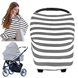 Carseat Canopy Cover - Baby Car Seat Canopy By KeaBabies - All-in-1 Nursing Breastfeeding Covers Up - Baby Car Seat Canopies For Boys, Girls - Stroller Covers - Shopping Cart, High Chair Cover (Gray)