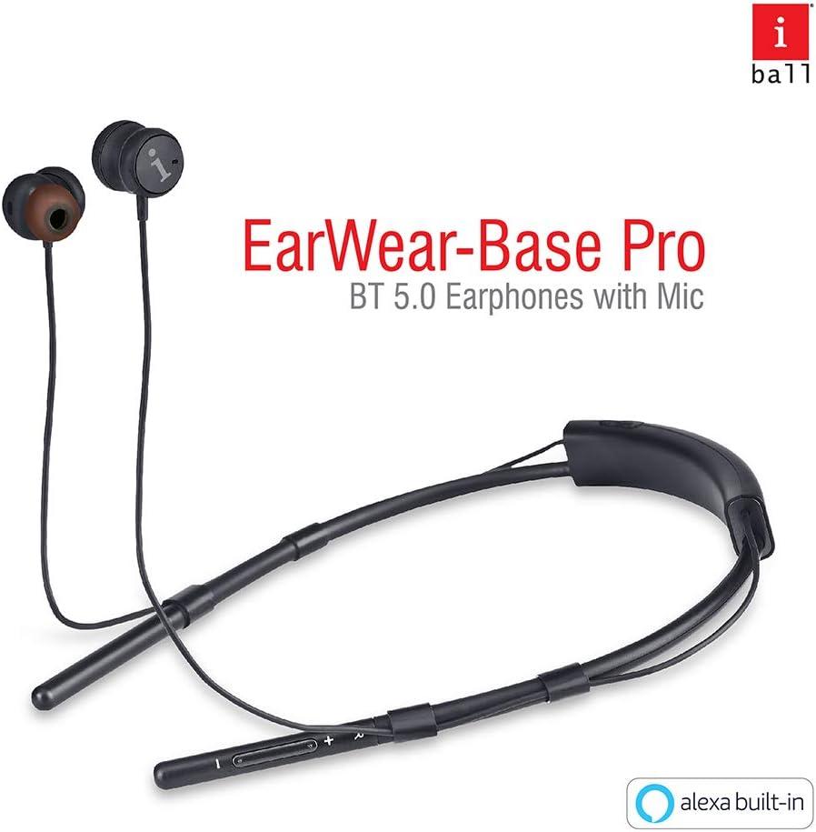iBall Earwear Base Pro in Ear Wireless Earphones with Built-in Alexa Voice Assistance Function