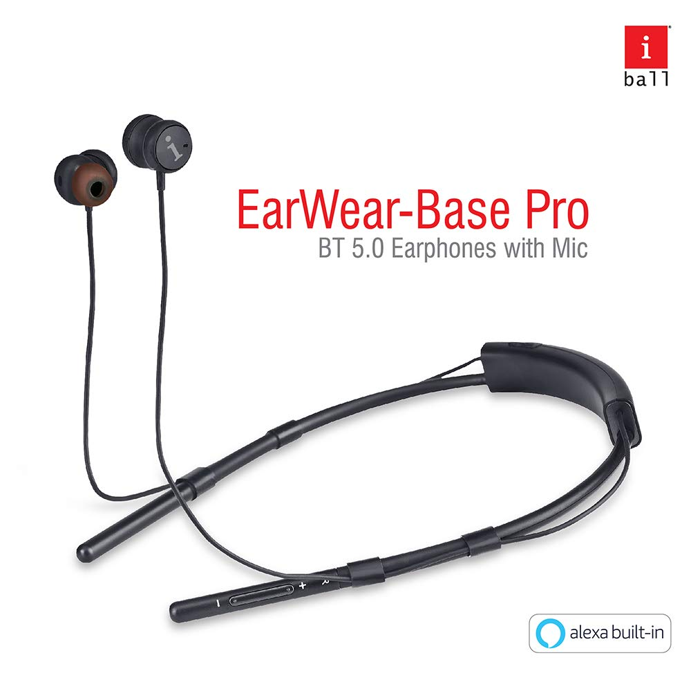 iBall Earwear Base Pro in Ear Wireless Earphones with Built-in Alexa Voice Assistance Function