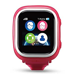 TickTalk 1.0S Touch Screen Kids Smart Watch, GPS Phone watch, Wearable Phone, Anti Lost GPS tracker with SOS Function, Pedometer, Phone/Messaging Including FREE SIM Card (Pink)